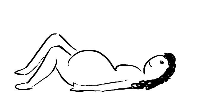 Geburtspositionen Rückenlage
