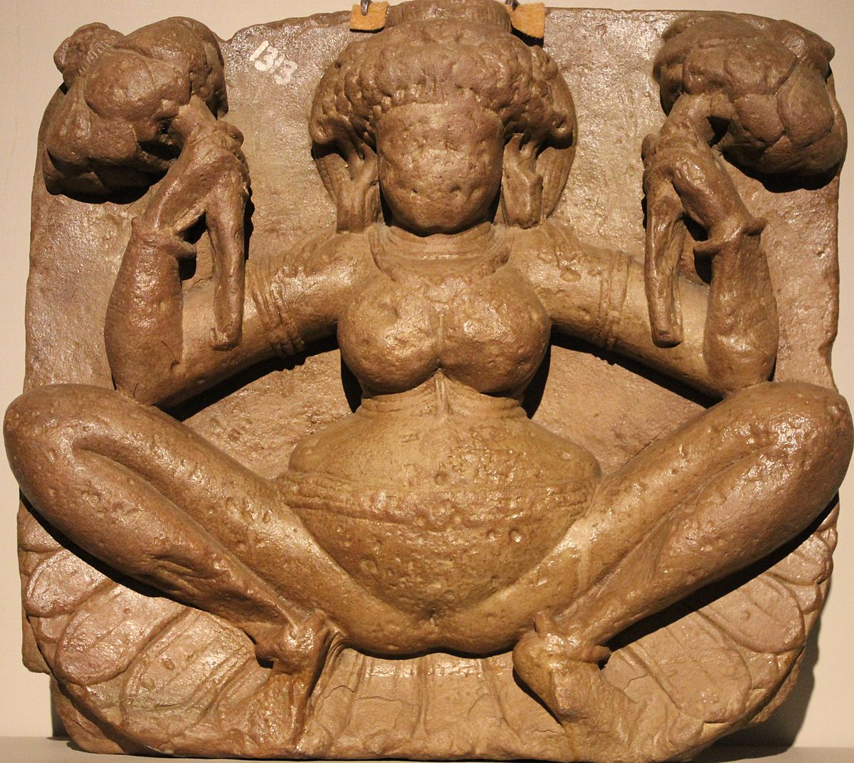 Lajja gauri Geburt tiefe Hocke